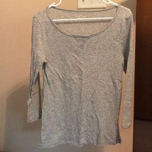 Gray 3/4 length sleeve j. Crew factory shirt